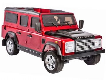 Ride on Car 12v Electric Land Rover Defender with Parental Radio Control Red Official Model